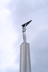 Monument of Glory in Samara is located on the Square of Fame in the Leninsky district of the city. Iron man with wings in his hands