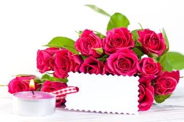 Rosen mit Blankozettel