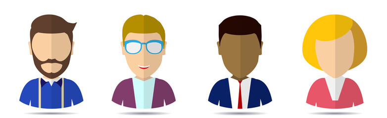 avatar office worker in a flat style