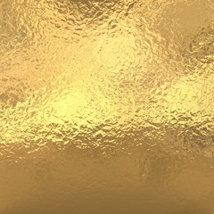 Gold foil background, golden metallic texture