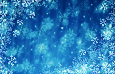 Christmas and happy new year background blue ice