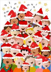coro di Natale di bambini da tutto il mondo