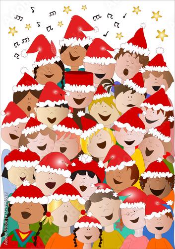 Immagini Di Natale Bambini.Coro Di Natale Di Bambini Da Tutto Il Mondo Immagini E