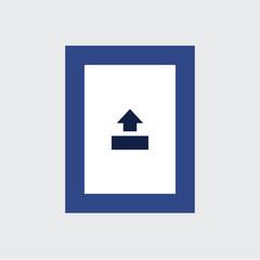 Image Print Frame Icon Vector Illustration Flat Design