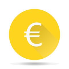 Euro money flat icon vector illustration.