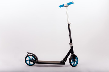 Black push scooter