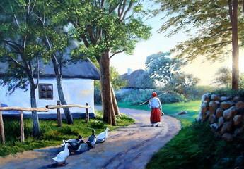 Ukrainian village,painting