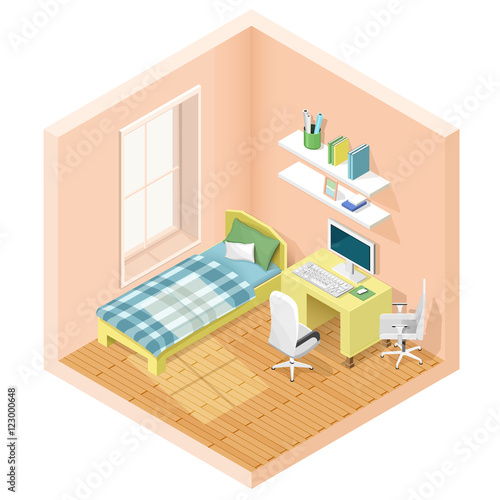 Modern graphic isometric room with bed and workplace ... on bed lifters, bed texture, bed desktop, bed seat cushion, bed on beach, bed bolsters, bed people, bed queen, bed on stilts, bed cooler, bed bunker, bed railing, bed for disabled at home,