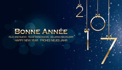 Bonne année 2017 bleu Fotomurales