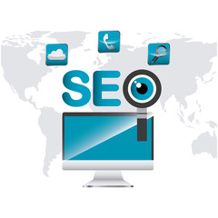 search engine optimization icons vector illustration design