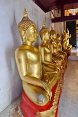 Seated Buddha image : At a small museum of Wat Phra Si Rattana Mahathat. Phitsanulok Province.Thailand.exhibiting Buddha image of the Sukhothai and Ayuthaya era.