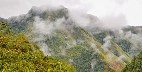 Low-lying Clouds Over the Cordillera Mountains - Batad, Banaue, Ifugao, Philippines
