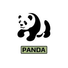 Vector of Panda bear icon. Business icon for the company. Logo for pet shop / Zoo / symbol. Flat design. Vector illustration.