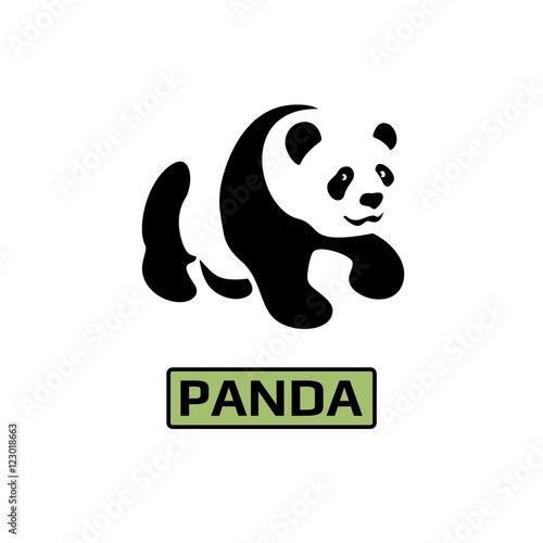 vector of panda bear icon business icon for the company logo for pet shop