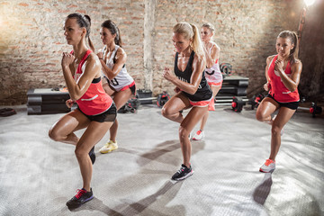 women doing exercise, fitness and healthy lifestyle