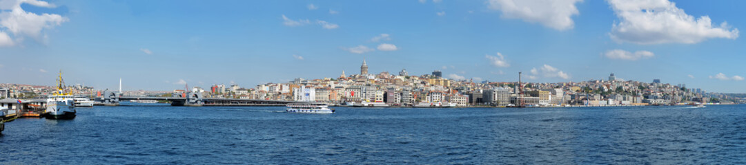 Extra wide panoramic photo of Istanbul, Turkey