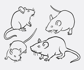 Mouse animal sketch. Good use for symbol, logo, web icon, mascot, sign, or any design you want.