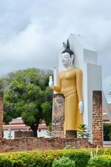 Phra Attharot, : A standing Buddha image at Wat Phra Si Rattana Mahathat ,Mueang Phitsanulok District,Phitsanulok Province,Thailand.