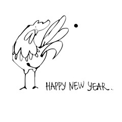 Happy New Year - hand lettering