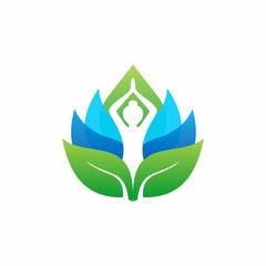 Abstract Yoga Wellness Health Logo