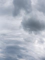 cumulus clouds and cirrus