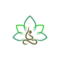 Simple Modern Yoga Line Logo