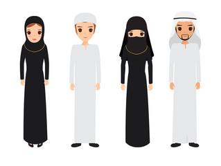 Arab and muslim character people.
