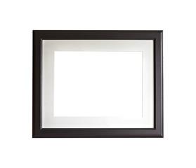 Isolated black frame mock up