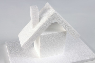 white house of polystyrene