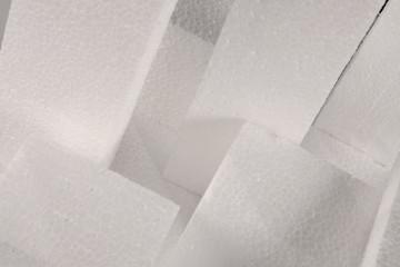 sauberes Polystyrol kann recycelt werden