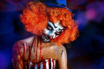 redhead bloody clown