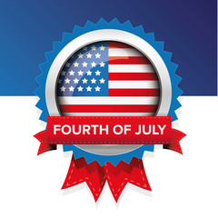Fourth of july american independence day label badge vector