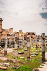 Vu sur la Rome Antique et les marchés de Trajan