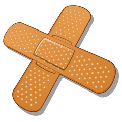 Adhesive bandage on a white background. Vector