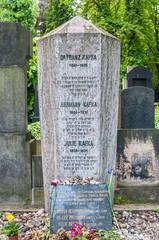 he burial place of famous writer Dr. Franz Kafka in New Jewish Cemetery, Prague, Czech Republic