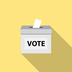 Poll box flat on yellow background vector