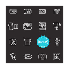 Set of Camera Photo Vector Illustration Elements can be used as