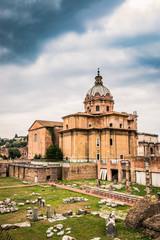 L'église Saint-Luca-et-Saint-Martin près du Forum Romain à Rome