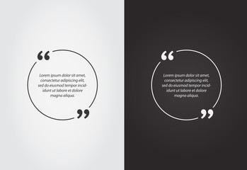 Empty Quote Template Bubble. Template Vector Set.