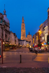 Gothic Cathedral at Night, Antwerp, Belgium