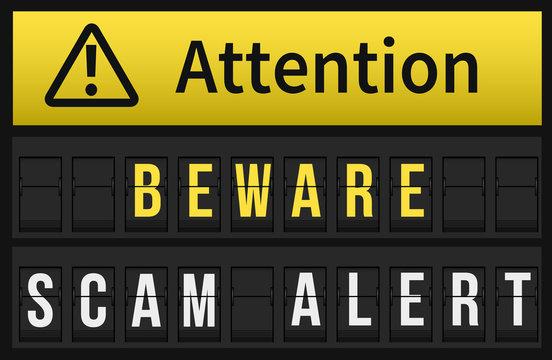 Beware Scam Alert message