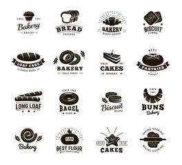 Bakery Labels Monochromatic Set