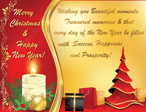 business new year greeting card elegant warm new year and christmas greeting card with message