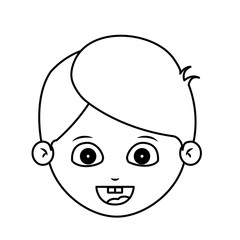 Boy cartoon face icon. Kid child little and people theme. Isolated design. Vector illustration