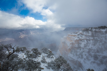 Clearing storm over Grand Canyon South Rim, Arizona