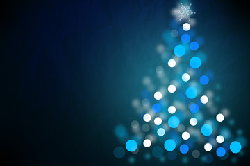 Abstract Christmas greeting design on blue background