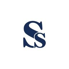 ss Letter Initial logo design