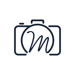 M photography logo design