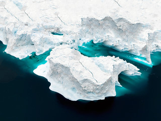 glaciers are at Greenland icefjord