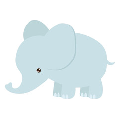 Funny elephant cartoon vector illustration